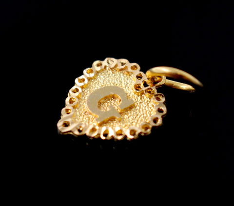 22k 22ct Solid Gold ELEGANT Heart Shape G LOCKET Pendant P829 | Royal Dubai Jewellers