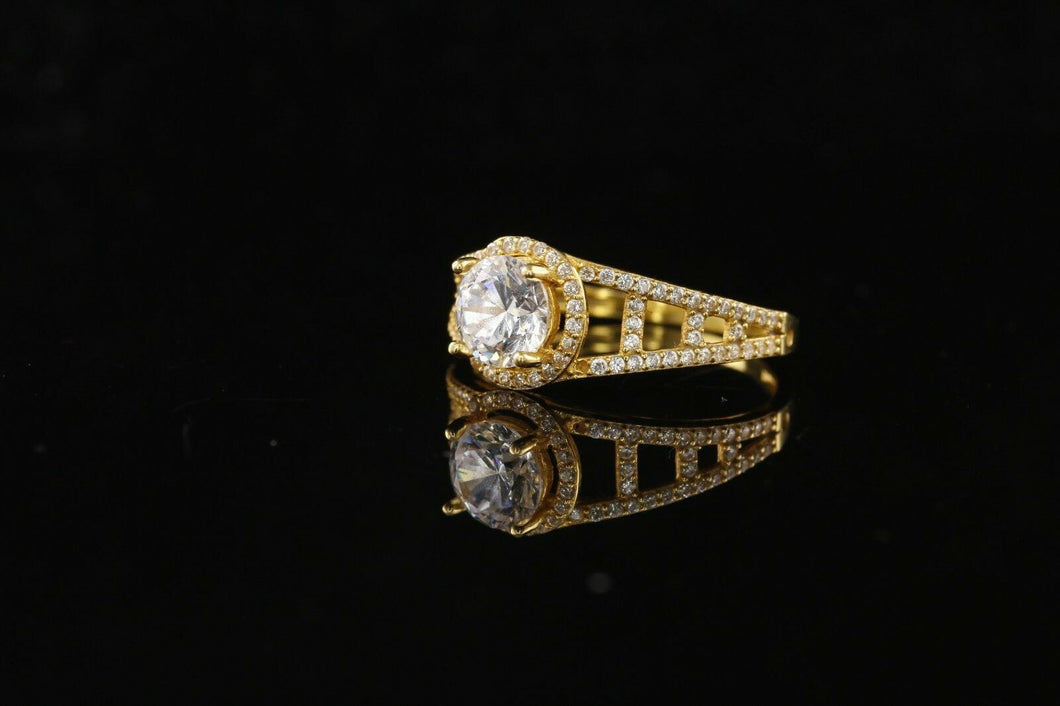 22k 22ct Solid Gold ELEGANT Ladies Solitaire Ring SIZE 6.5