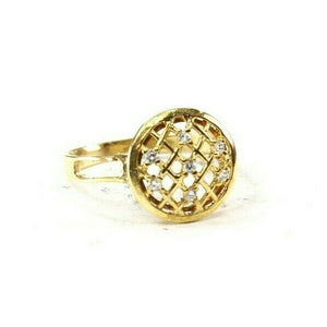 "22k Ring Solid Gold ELEGANT Charm Ladies Band SIZE 8.25 ""RESIZABLE"" r2540mon"