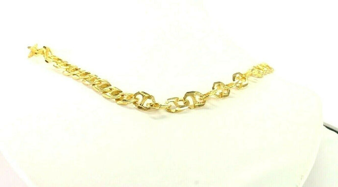 22k Chain Yellow Solid Gold Chain Necklace MEN Cable Design Length 18
