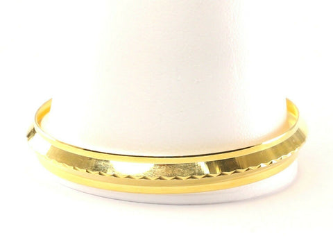 22k Bangle Solid Gold Simple Charm Men Plain Kara Design Size 2.78 inch B1161 | Royal Dubai Jewellers