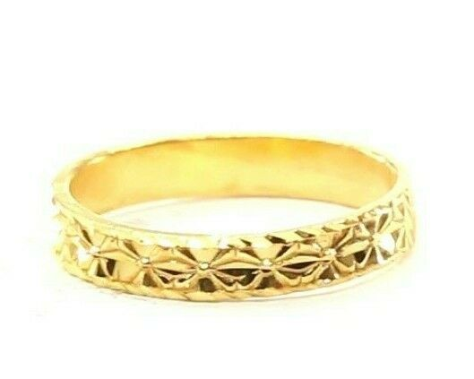 22k Ring Solid Gold ELEGANT Charm Classic Ladies Band
