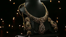 22k Necklace Set Beautiful Charm Solid Gold Classic Stones For Ladies LS135