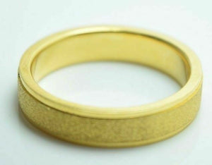 22k Yellow Gold Band Ring Mens or Ladies 5mm Width ANY SIZE AVAILABLE