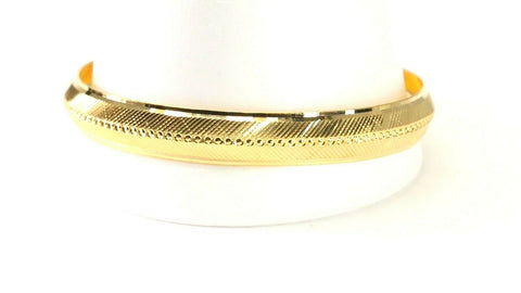 22k Bangle Solid Gold Simple Charm Diamond Cut Men Design Size 2.75 inch B4215