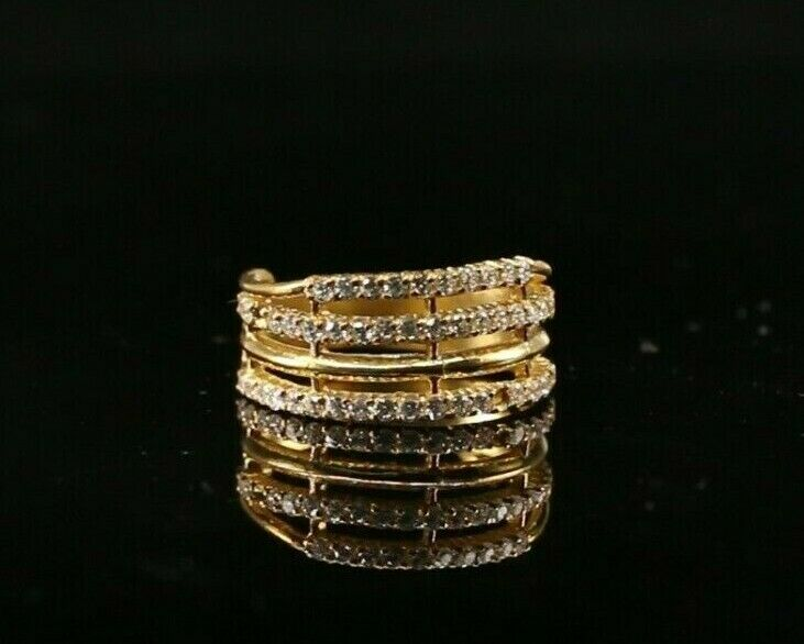 22k Ring Solid Gold ELEGANT Charm Ladies Loop Band  SIZE 7