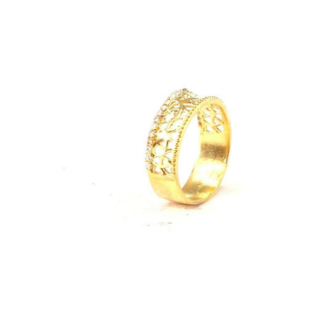 "22k 22ct Solid Gold ELEGANT Charm Ladies Simple Ring SIZE 8 ""RESIZABLE"" r2093 