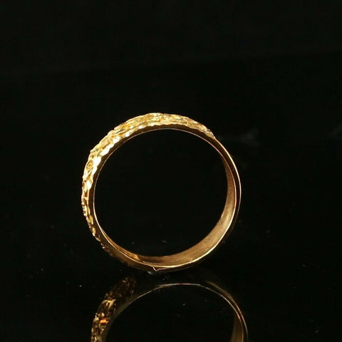 "22k Ring Solid Gold ELEGANT Charm Ladies Simple Ring SIZE 11.3 ""RESIZABLE"" r2084 