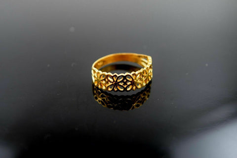 "22k 22ct Solid Gold ELEGANT Charm Ladies Floral Ring SIZE 8 ""RESIZABLE"" r1726 