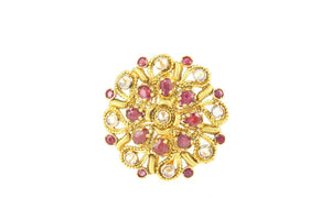 "22k 22ct Solid Gold ELEGANT Charm Ladies Floral Ring SIZE 8.5 ""RESIZABLE"" r1814 
