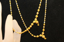 22k Yellow Solid Gold Chain Necklace Simple Two Tone Design Length 26 inch c393 | Royal Dubai Jewellers