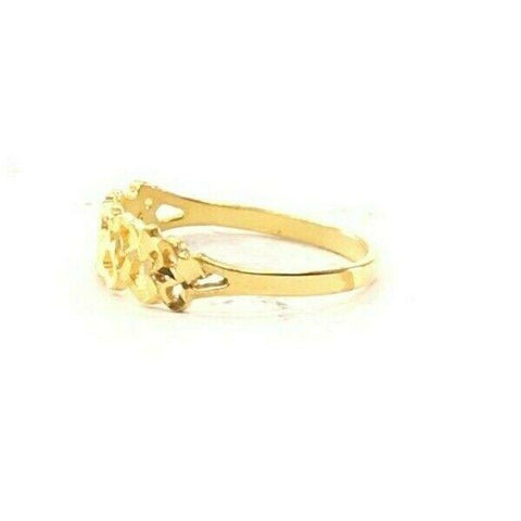 22ct 22k Solid Gold Elegant Charm Heart Pattern Ladies Ring Size R2055mon | Royal Dubai Jewellers