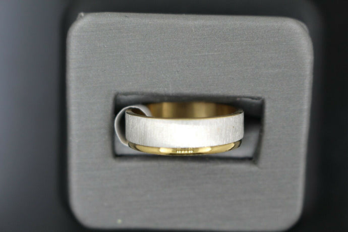 18k Solid Gold Elegant Ladies Modern Matte Finish Band Ring R9248m | Royal Dubai Jewellers