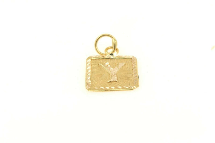 22k 22ct Solid Gold Charm Letter Y Pendant Square Design p1127 ns | Royal Dubai Jewellers