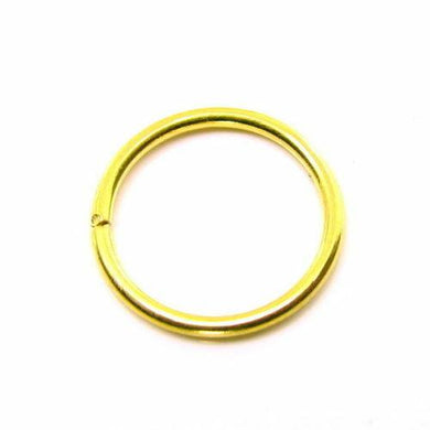 Simple wire nose ring Solid 22K Real Gold septum nostril Piercing hoop 20g USA | Karizma Jewels
