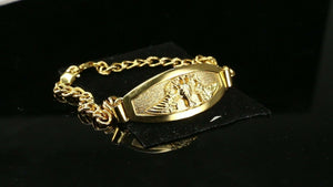 18k Bracelet Solid Gold Simple Dazzling Mens Diamond Cut Eagle Design b4089