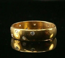 "22k Ring Solid Gold ELEGANT Charm Ladies Stone  Band SIZE 7.25 ""RESIZABLE"" r2142"