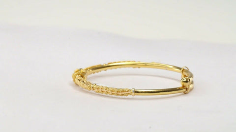 22k 22ct Solid Gold ELEGANT Simple Children BRACELET Adjustable CB1184 | Royal Dubai Jewellers