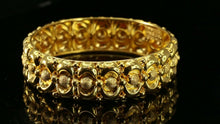 22k Bangle Solid Gold Simple Dazzling Antique 80's Indian Design B4179