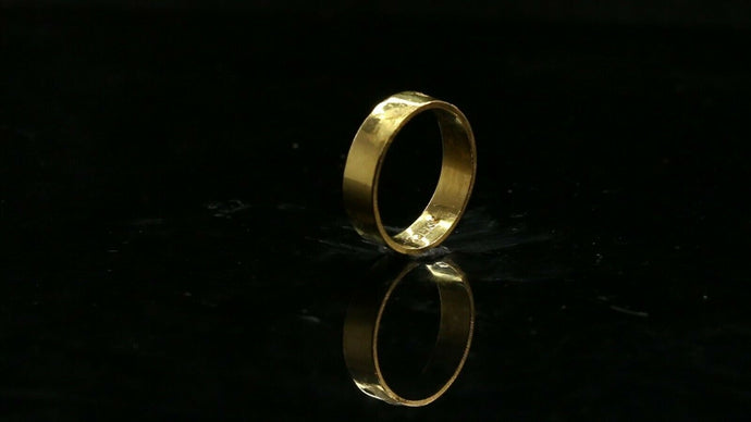 22k Ring Solid Gold ELEGANT Charm Ladies Simple Band SIZE 6.25