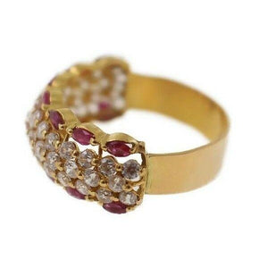 "22k 22ct Solid Gold Elegant Ladies Ring with Stones SIZE 8 ""RESIZABLE"" r1644 