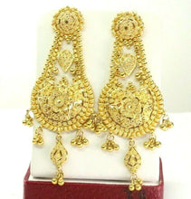 22k Earrings Solid Gold ELEGANT Classic Filigree Dangle and Drop Design e7292