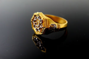 "22k Solid Gold ELEGANT Mens Muslim Religious Ring SIZE 11 ""RESIZABLE"" r1656 