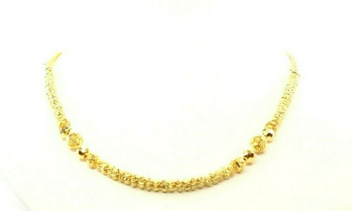 22k Yellow Solid Gold Chain Necklace Classic Design Length 17 inch C3106