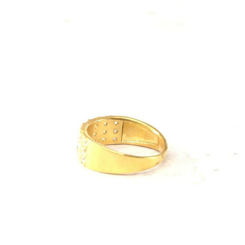 "22k Ring Solid Gold ELEGANT Charm Ladies Simple Ring SIZE 7.7""RESIZABLE"" r2092 