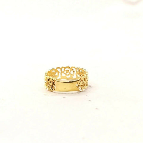 22ct 22k Solid Gold Elegant Diamond Cut Geometric Design  Ladies Ring R2077mon | Royal Dubai Jewellers