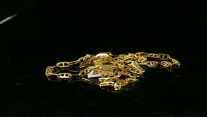 22k Chain Yellow Solid Gold  Necklace Cable Design Charm Length 16inch c801z