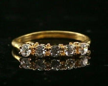 "22k Ring Solid Gold ELEGANT Charm Ladies Stone Band  SIZE 7.25 ""RESIZABLE"" r2121"