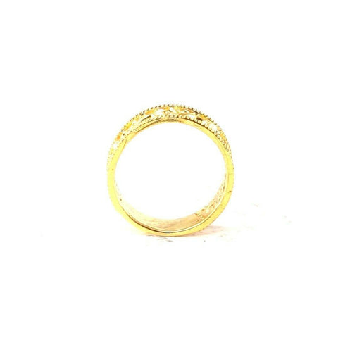 "22k Ring Solid Gold ELEGANT Charm Ladies Simple Ring SIZE 7 ""RESIZABLE"" r2098 