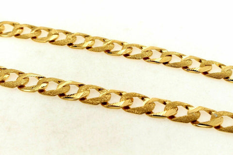 22k Chain Yellow Solid Gold Rope Necklace Simple Cuban Link Design 22 inch c697 | Royal Dubai Jwellers