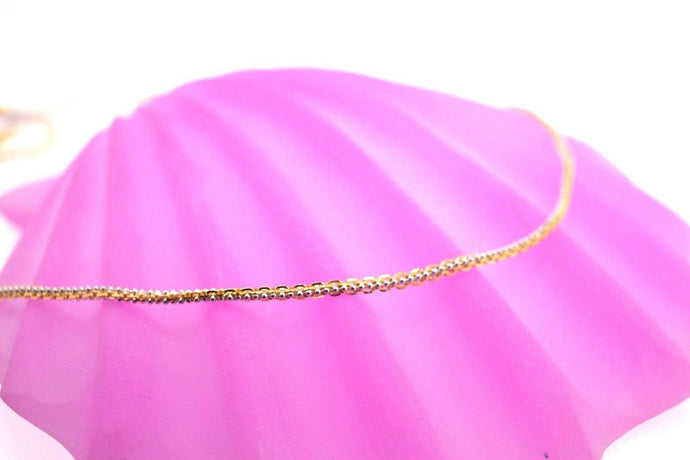 22k Chain Yellow Solid Gold Necklace Exquisite Modern TwoTone Cable Design c1058 | Royal Dubai Jewellers