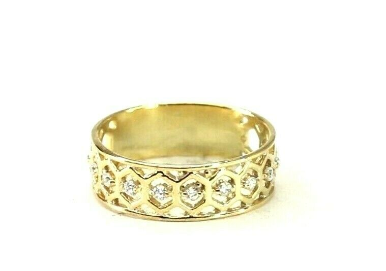 22k Ring Solid Gold ELEGANT Charm Ladies Band SIZE 7.5