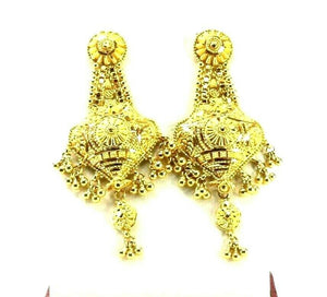 22k Earrings Solid Gold ELEGANT Classics Filigree Dangle Studs Design E8237