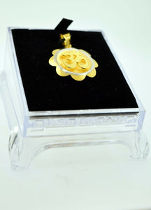 22k 22ct Solid Gold Round Hindu Religious OM AUM OHM pendant charm p230 | Royal Dubai Jewellers