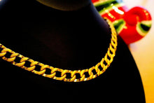 "22k Gold HEAVY Yellow Miami Chain Cuban Link 22"" DIAMOND CUTS Free Sizing son 