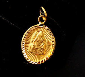 22k 22ct Solid Gold Hindu Religious God Shiv Pendant Diamond Cut p1051 ns | Royal Dubai Jewellers