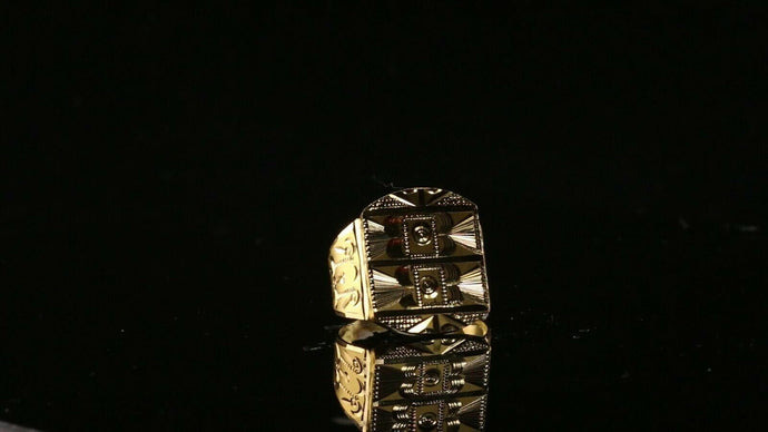 22k 22ct Solid Gold ELEGANT Simple Mens Ring SIZE 9