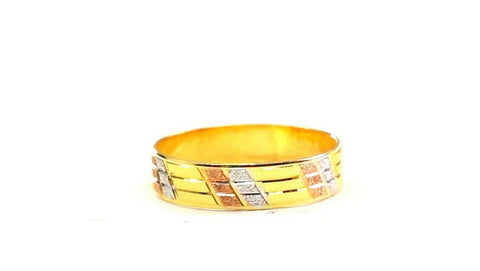"22k Ring Solid Gold ELEGANT Charm Ladies Simple Ring SIZE 9 ""RESIZABLE"" r2615"