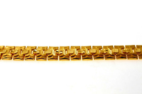 22k 22ct Solid Gold ELEGANT MEN DESIGNER WIDER BROAD BRACELET B655 | Royal Dubai Jewellers