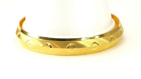 22k Bangle Solid Gold Simple Charm Diamond Cut Men Design Size 3 inch B4225