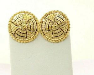 22k 22ct Solid Gold ELEGANT Simple Round Filigree Studs Earrings Design E7253