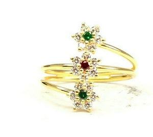 "22k Ring Solid Gold ELEGANT Charm Ladies Simple Ring SIZE 7.5"" RESIZABLE"" r2630"