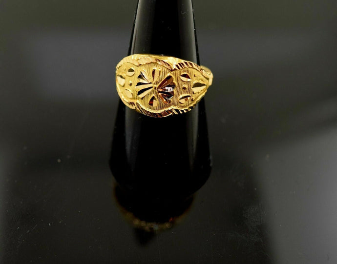 22k 22ct Solid Gold ELEGANT STONE Ring with FREE  BOX