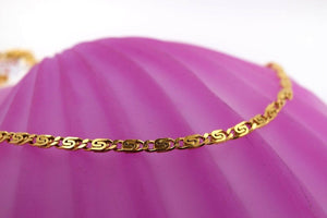 22k Chain Yellow Solid Gold Necklace Exquisite S Link Design 22 inch c1008 | Royal Dubai Jewellers