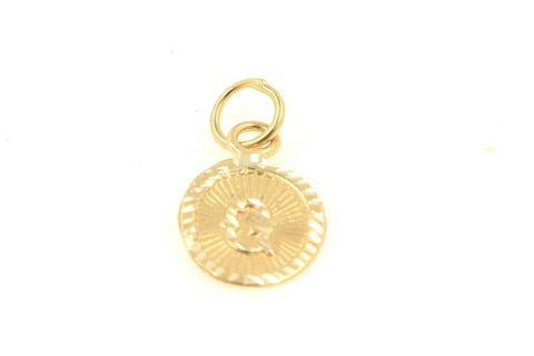 22k 22ct Solid Gold Charm Letter G Pendant Oval Design p1142 ns | Royal Dubai Jewellers