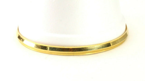22k Bangle Solid Gold Simple Charm  Men High Polish Design Size 3 inch B4222